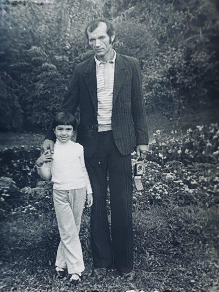 eu și tata, după întoarcerea din Iraq.